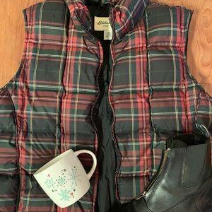 Super Cozy Eddie Bauer Down Flannel Vest!